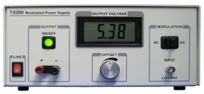 Modulation power supply makes easy to measure op-amp power supply rejection ratio.
