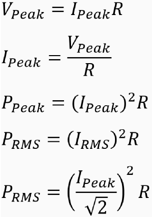 Equations for resonant piezo driver.