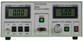 The waveform amplifier can output high voltage and current to drive relay solenoid coil.