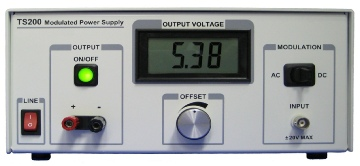Electromagnetic coil driver using the TS200 Modulated Power Supply.