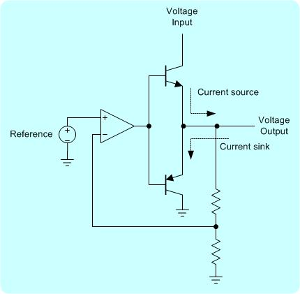 Battery simulator circuit is using two transistors. It can emulate a battery being charged.